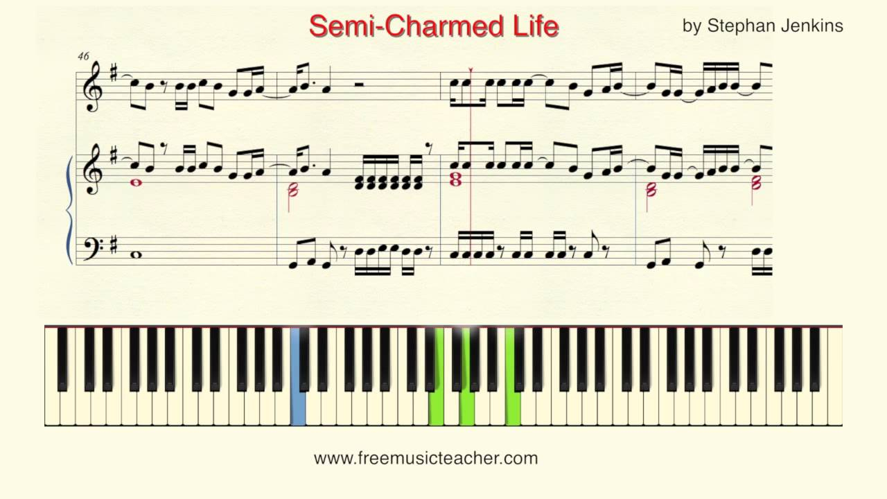 Semi Charmed Life Chords How To Play Piano Semi Charmed Life Stephan Jenkins Piano Tutorial Ramin Yousefi