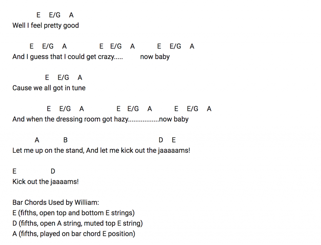 Set A Fire Chords The Mc5s Wayne Kramer Demonstrates The Correct Official Way To