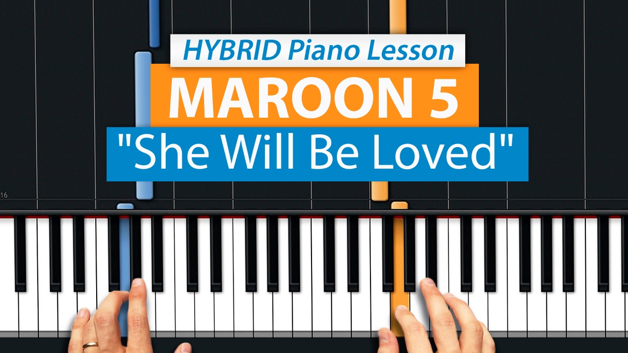 She Will Be Loved Chords How To Play She Will Be Loved Maroon 5 Hdpiano Part 1 Piano Tutorial