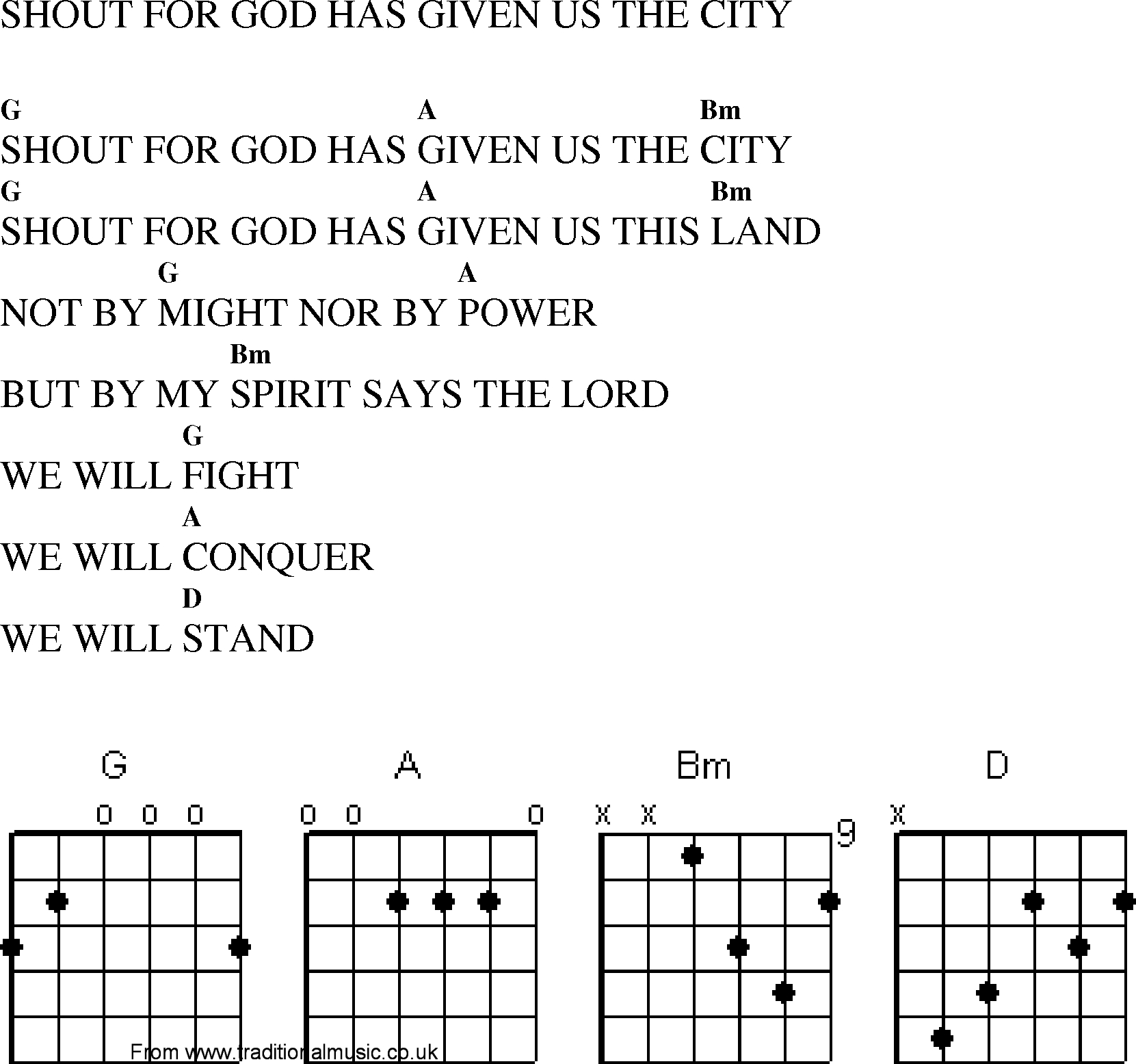 Shout To The Lord Chords Christian Gospel Worship Song Lyrics With Chords Shout For God Has