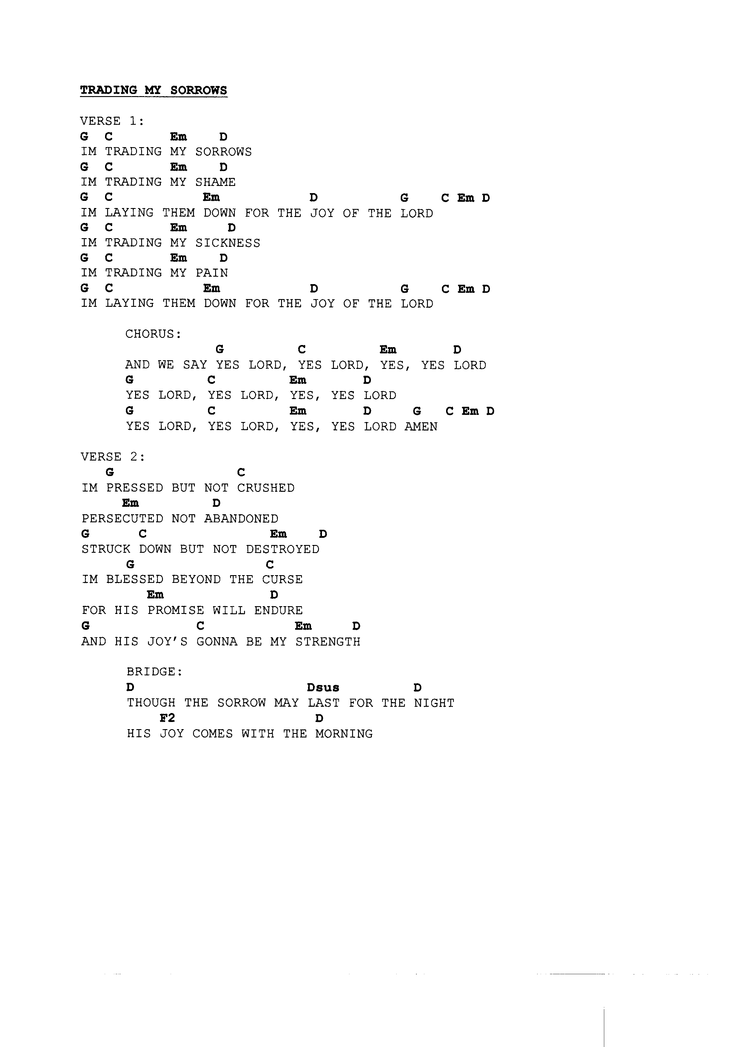 Shout To The Lord Chords Praise Worship Chords Page 5 The Idiot In Me