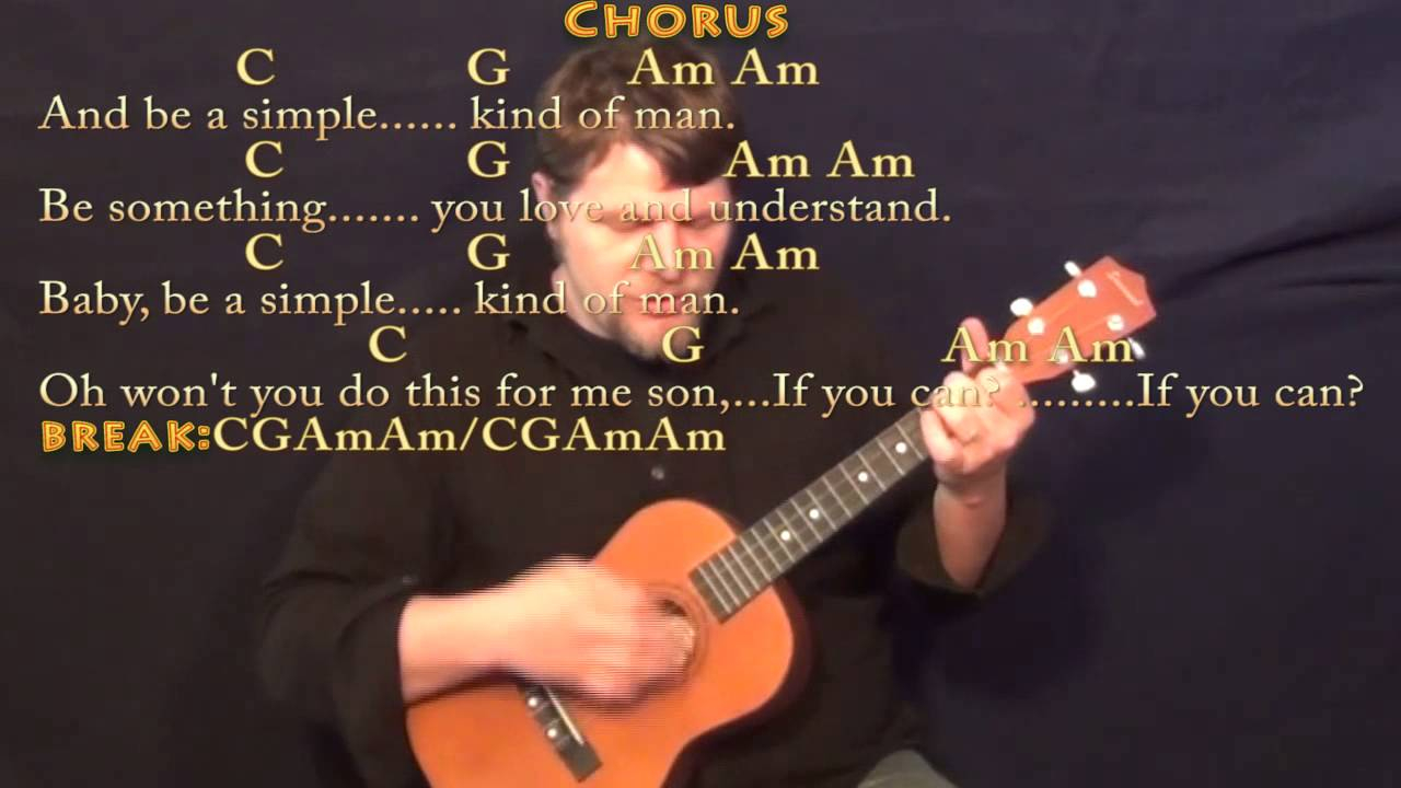 Simple Man Chords Simple Man Lynyrd Skynyrd Bariuke Cover Lesson With Chordslyrics
