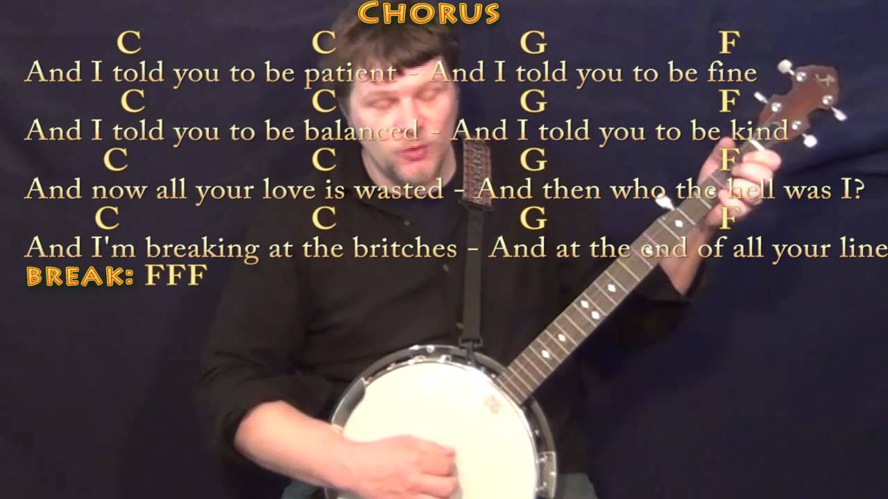 Skinny Love Ukulele Chords Skinny Love Bon Ivers Banjo Cover Lesson With Chordslyrics