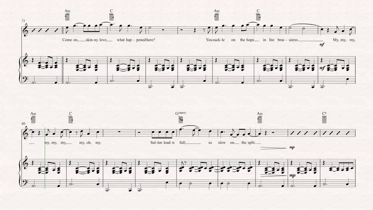 Skinny Love Ukulele Chords Ukulele Skinny Love Bon Iver Sheet Music Chords Vocals