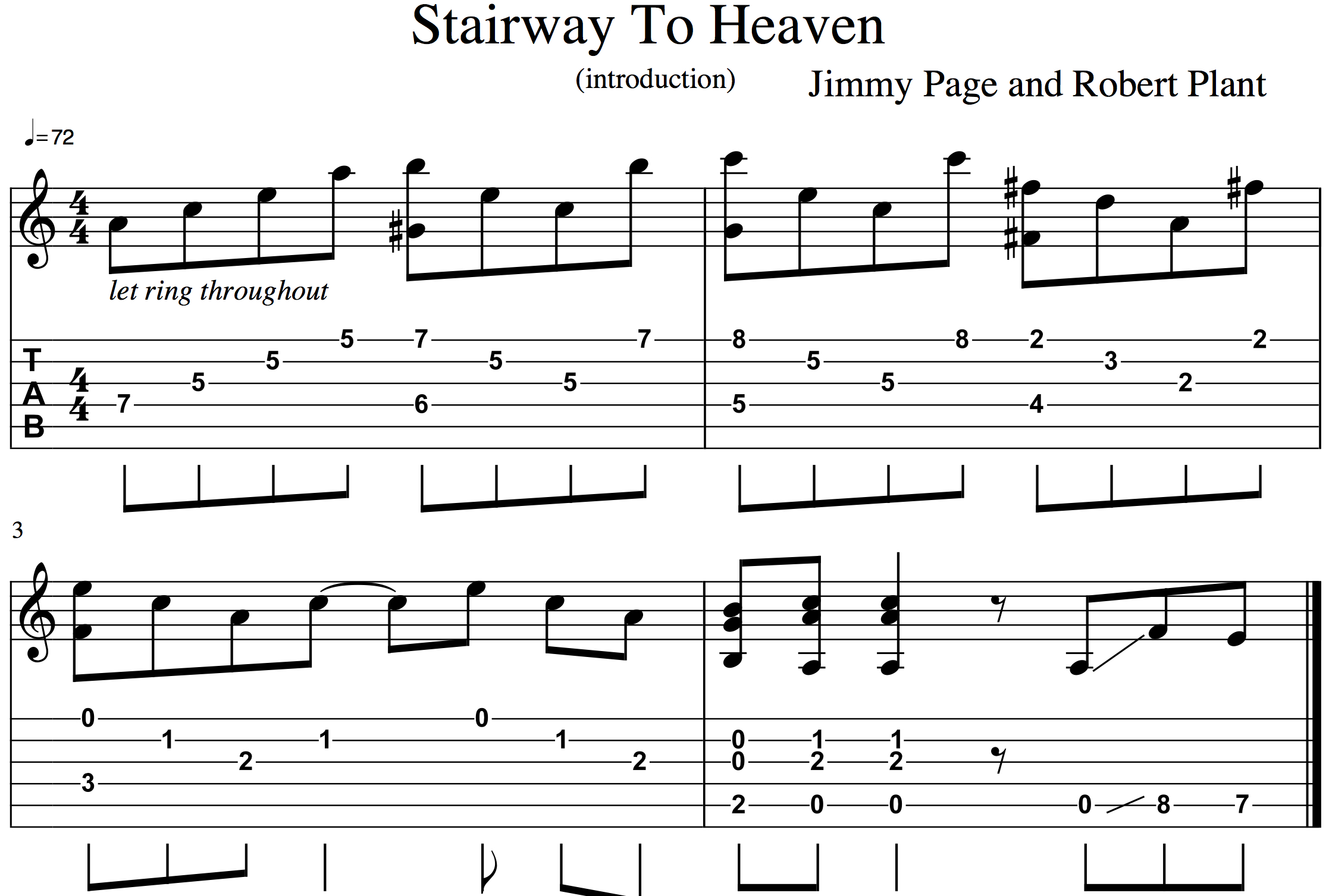 Stairway To Heaven Chords What Exactly Did Stairway To Heaven Copy From Taurus Joe Bennett