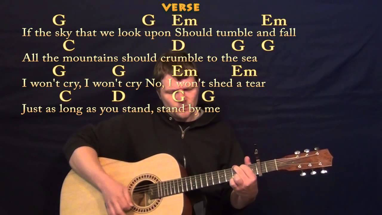 Stand By Me Chords Stand Me Ben E King Easy Guitar Strum Cover Lesson With Lyricschords
