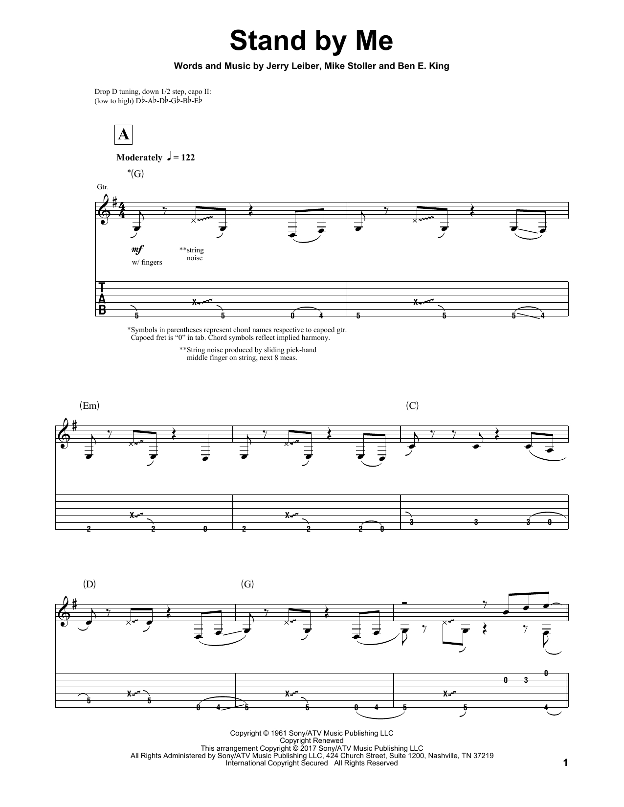 Stand By Me Chords Stand Me Sheet Music To Download