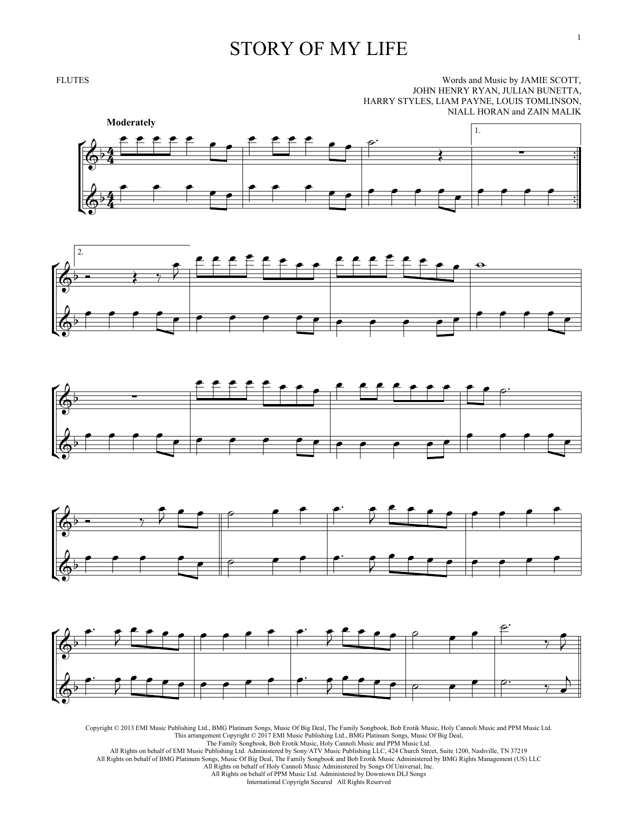 Story Of My Life Chords Sheet Music Digital Files To Print Licensed Louis Tomlinson
