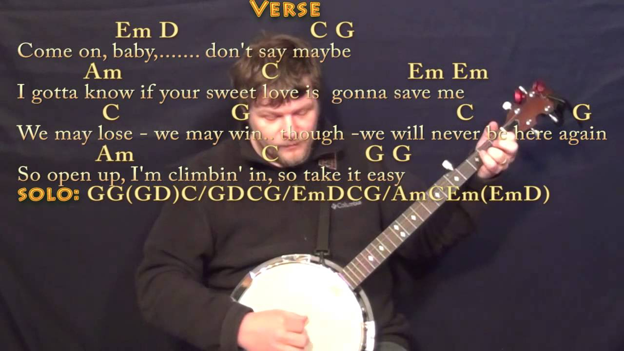 Take It Easy Chords Take It Easy Eagles Banjo Cover Lesson With Chordslyrics