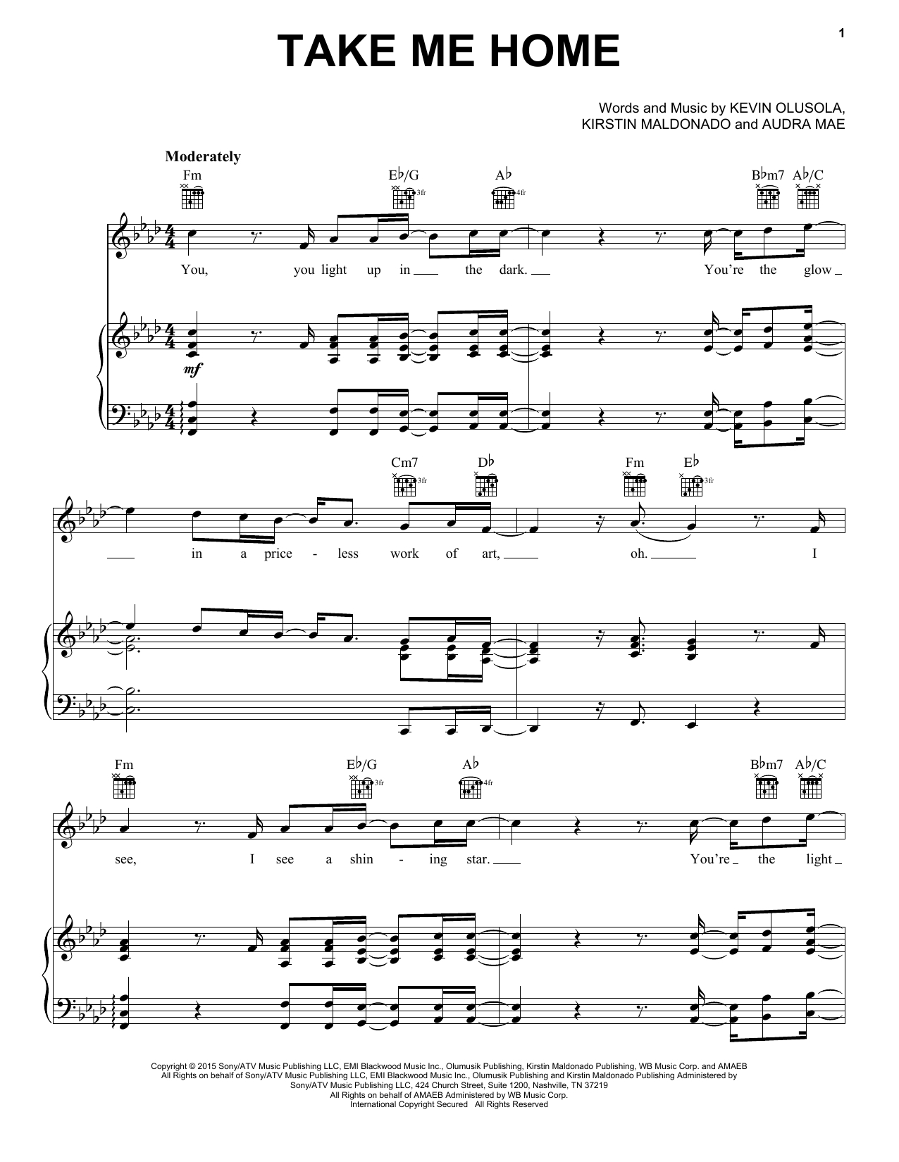 Take Me To Church Chords Pentatonix Take Me Home Sheet Music Notes Chords Download Printable Piano Vocal Guitar Right Hand Melody Sku 164605