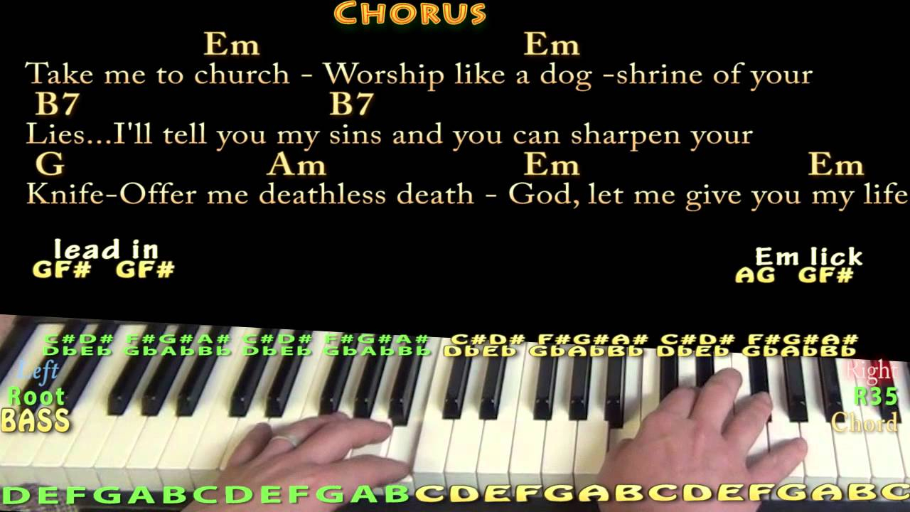 Take Me To Church Chords Take Me To Church Hozier Piano Cover Lesson With Chordslyrics