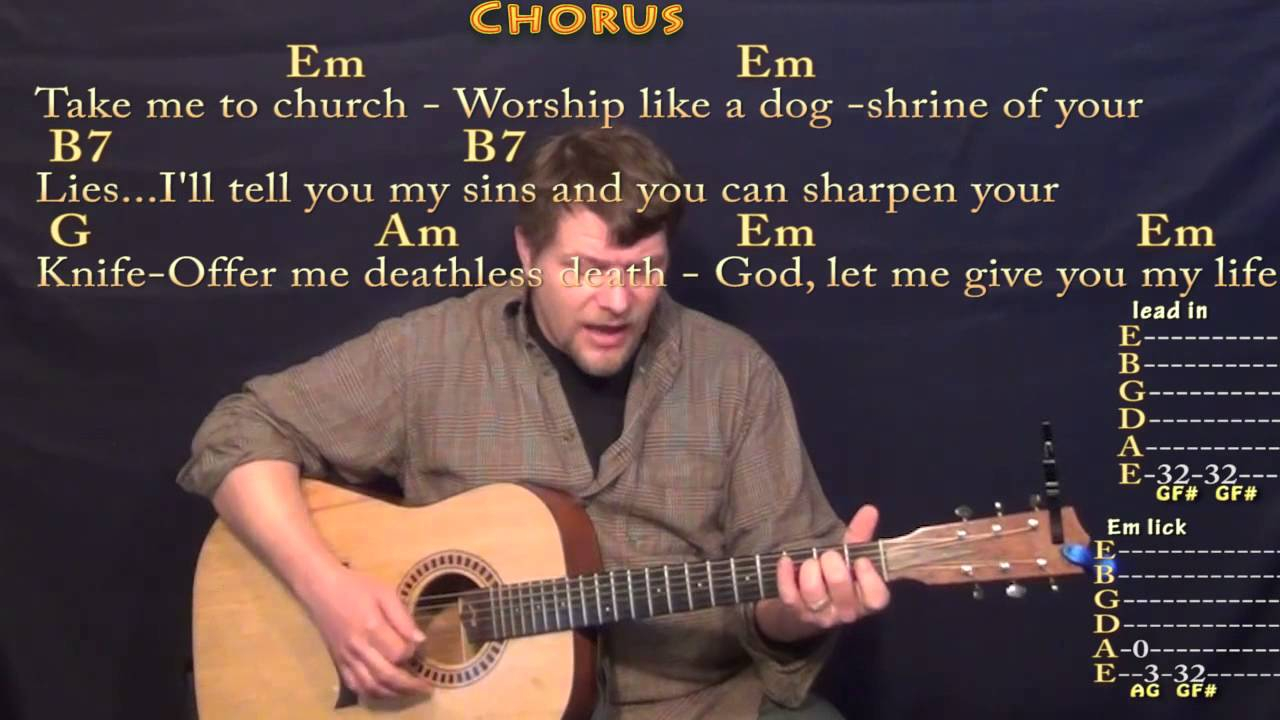 Take Me To Church Chords Take Me To Church Hozier Strum Guitar Cover Lesson With Chordslyrics
