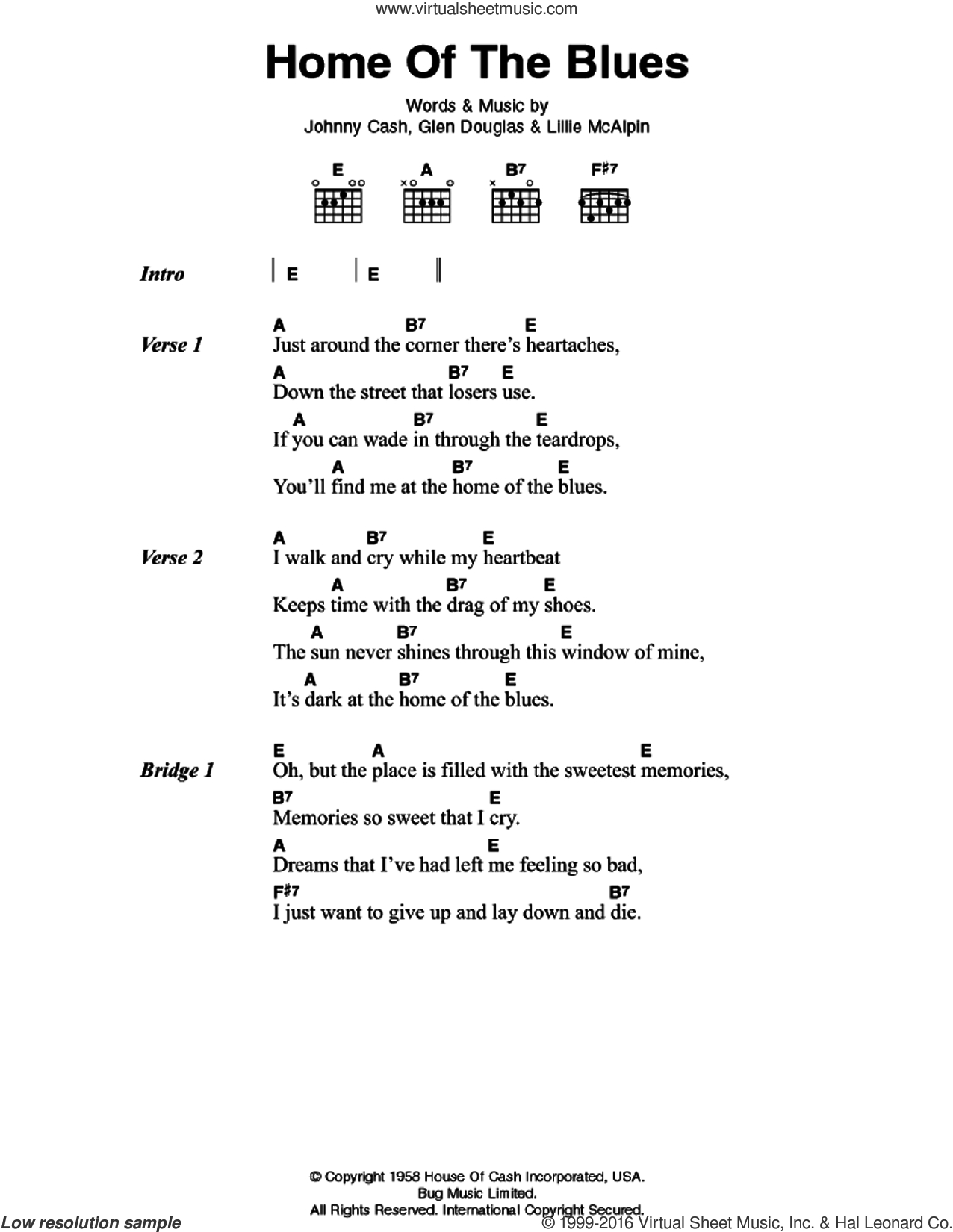 Teardrops On My Guitar Chords Cash Home Of The Blues Sheet Music For Guitar Chords Pdf