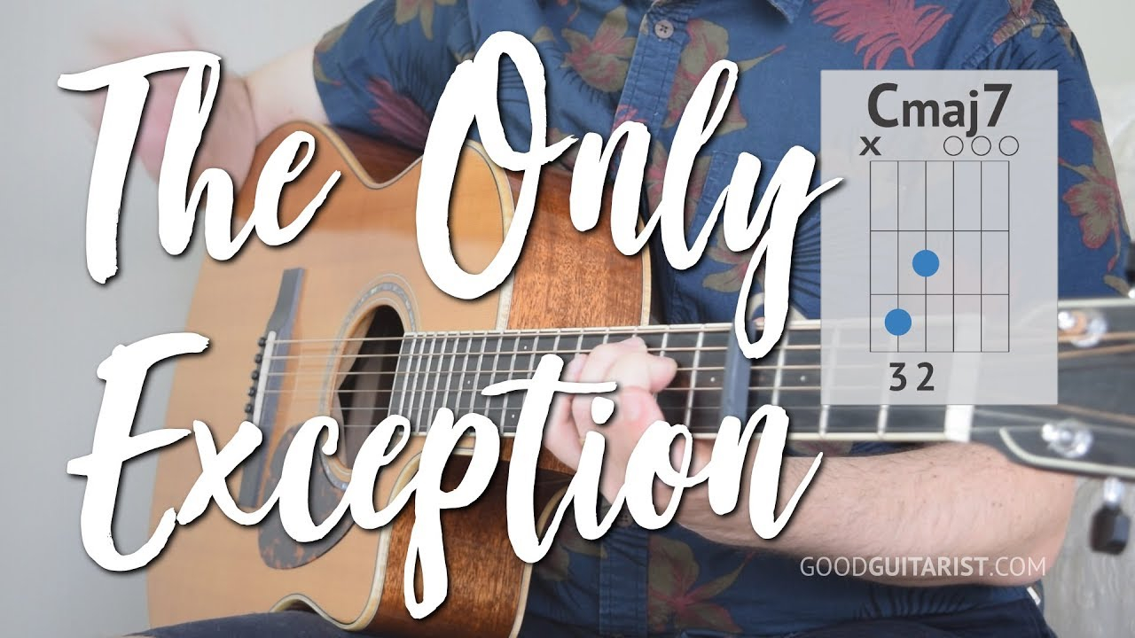 The Only Exception Chords The Only Exception Guitar Tutorial Paramore 3 Chord Song
