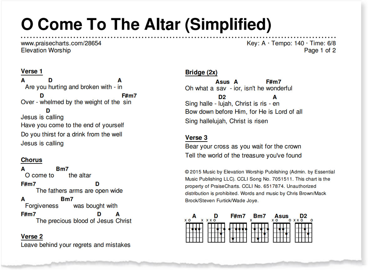 The Weight Chords Introducing The Simplified Worship Series Praisecharts