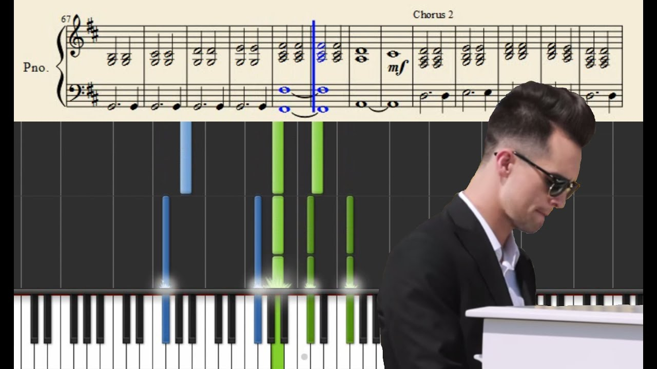 This Is Gospel Chords Panic At The Disco This Is Gospel Piano Version Tutorial Sheets