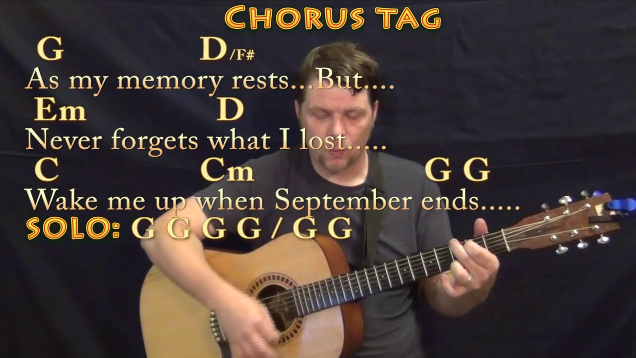 Wake Me Up When September Ends Chords Wake Me Up When September Ends Green Day Strum Guitar Cover Lesson In G With Chordslyrics