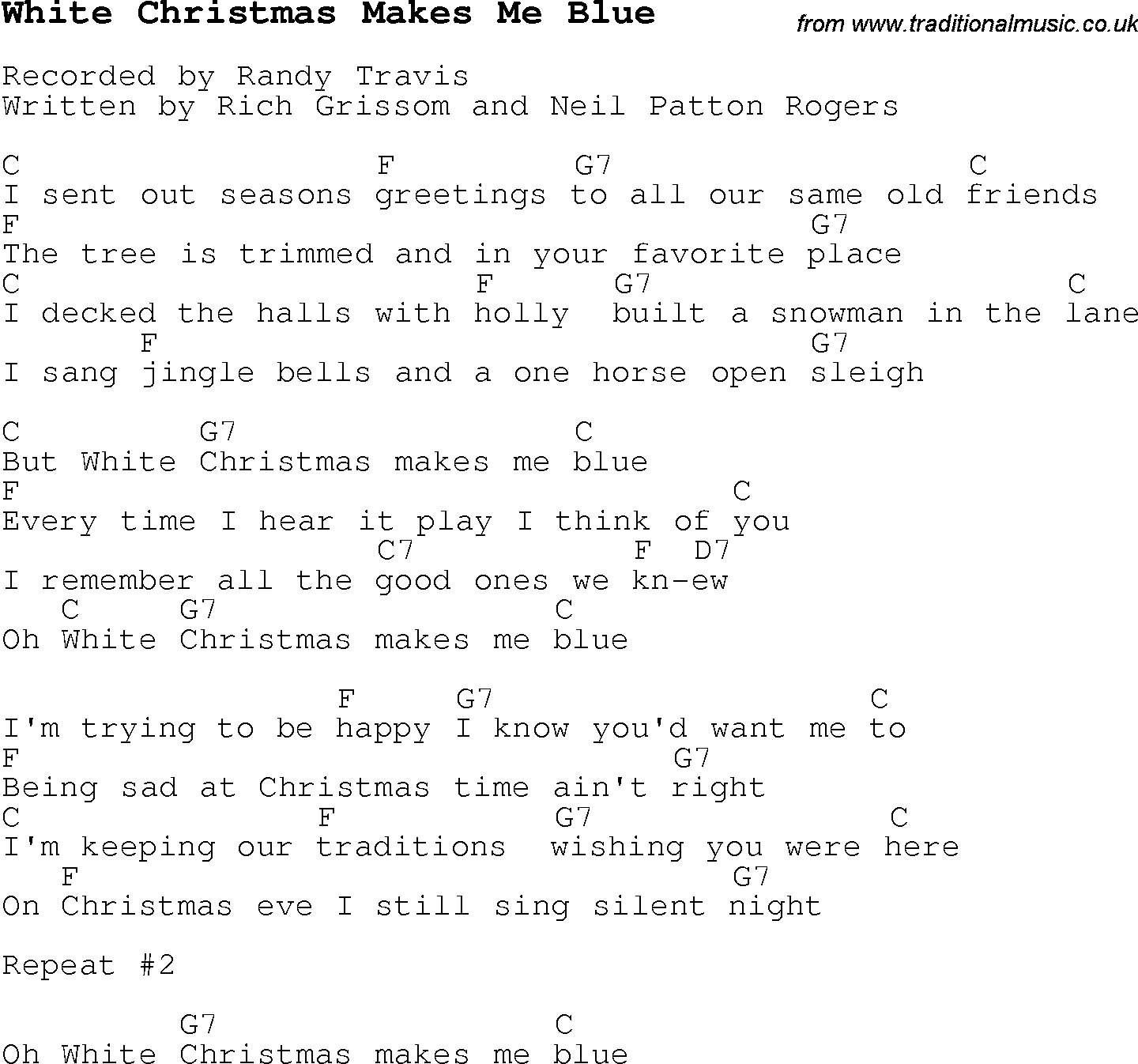 White Christmas Chords Christmas Carolsong Lyrics With Chords For White Christmas Makes Me