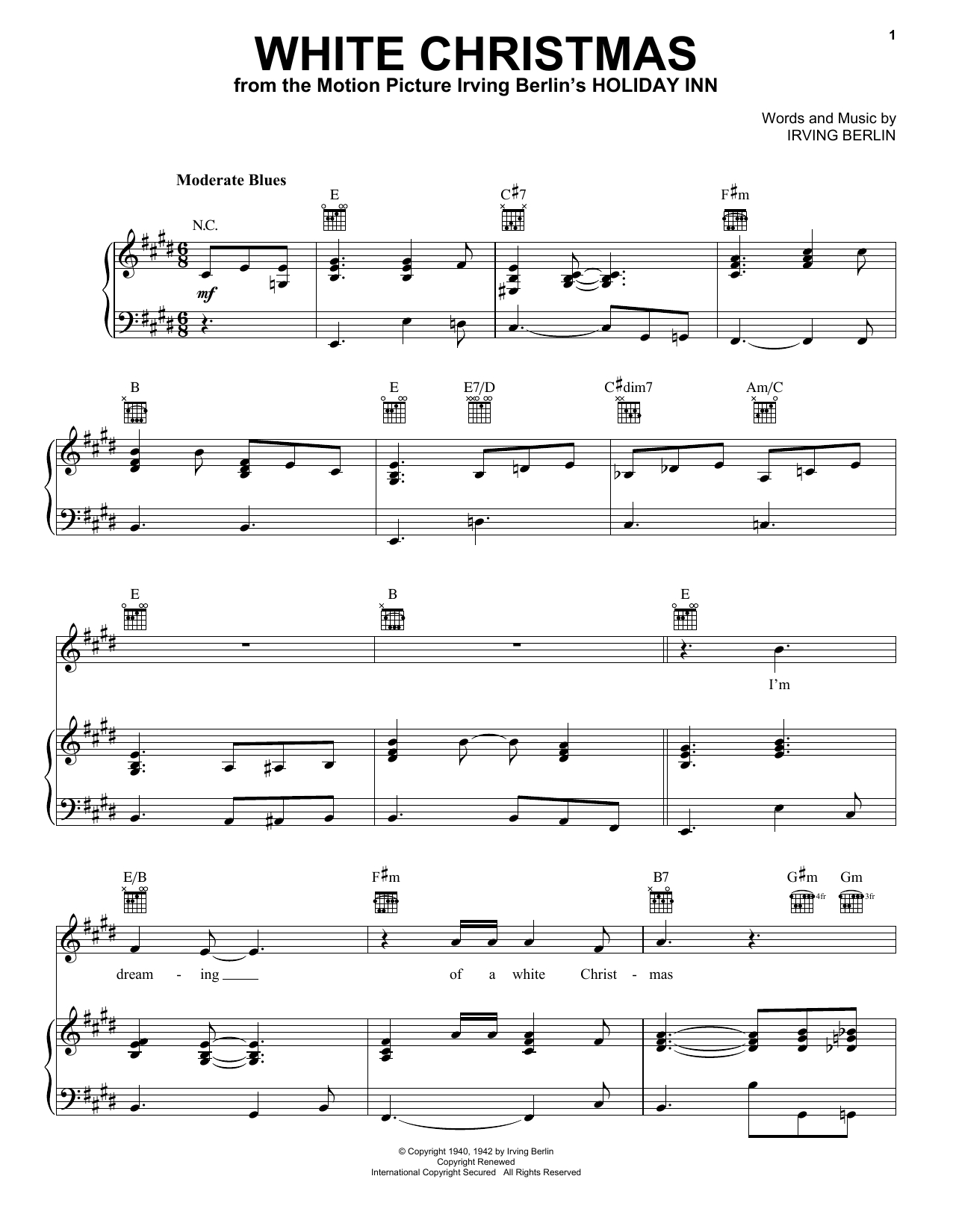 White Christmas Chords Eric Clapton White Christmas Sheet Music Notes Chords Download Printable Piano Vocal Guitar Right Hand Melody Sku 403035