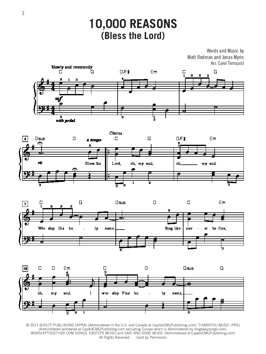 You Make Me Brave Chords Modern Worship Hits Easy Piano Arr Carol Tornq Jw Pepper