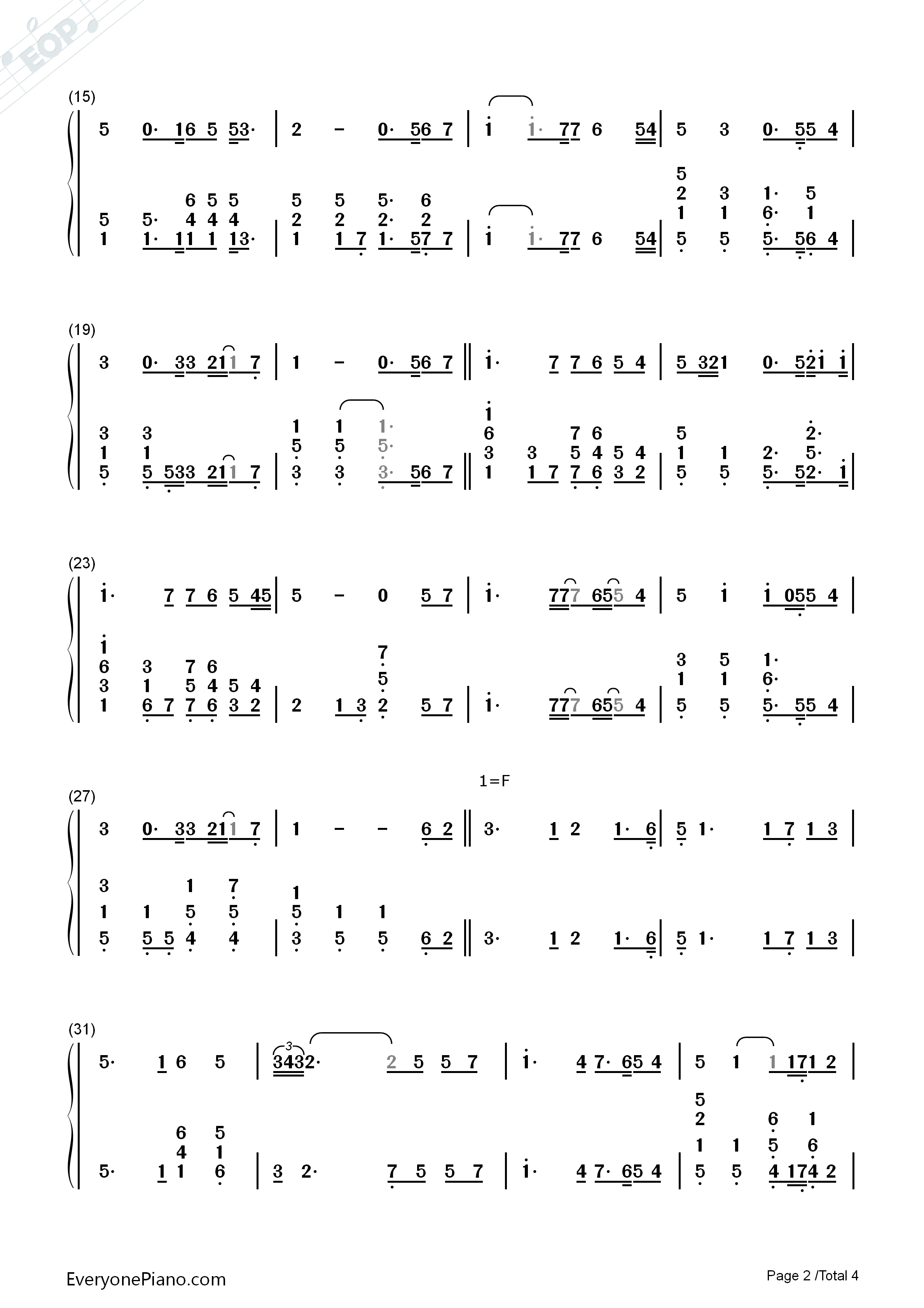 You Raise Me Up Chords You Raise Me Up Westlife Numbered Musical Notation Preview 2 Free