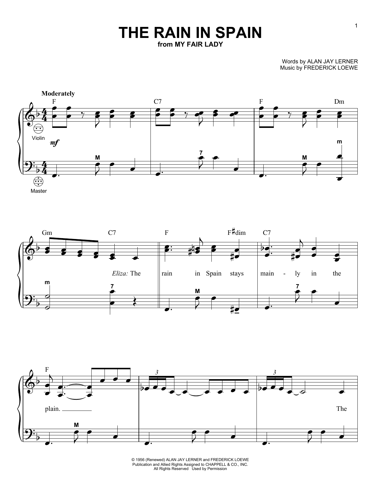 Your Great Name Chords Gary Meisner The Rain In Spain Sheet Music Notes Chords Download Printable Accordion Sku 158013
