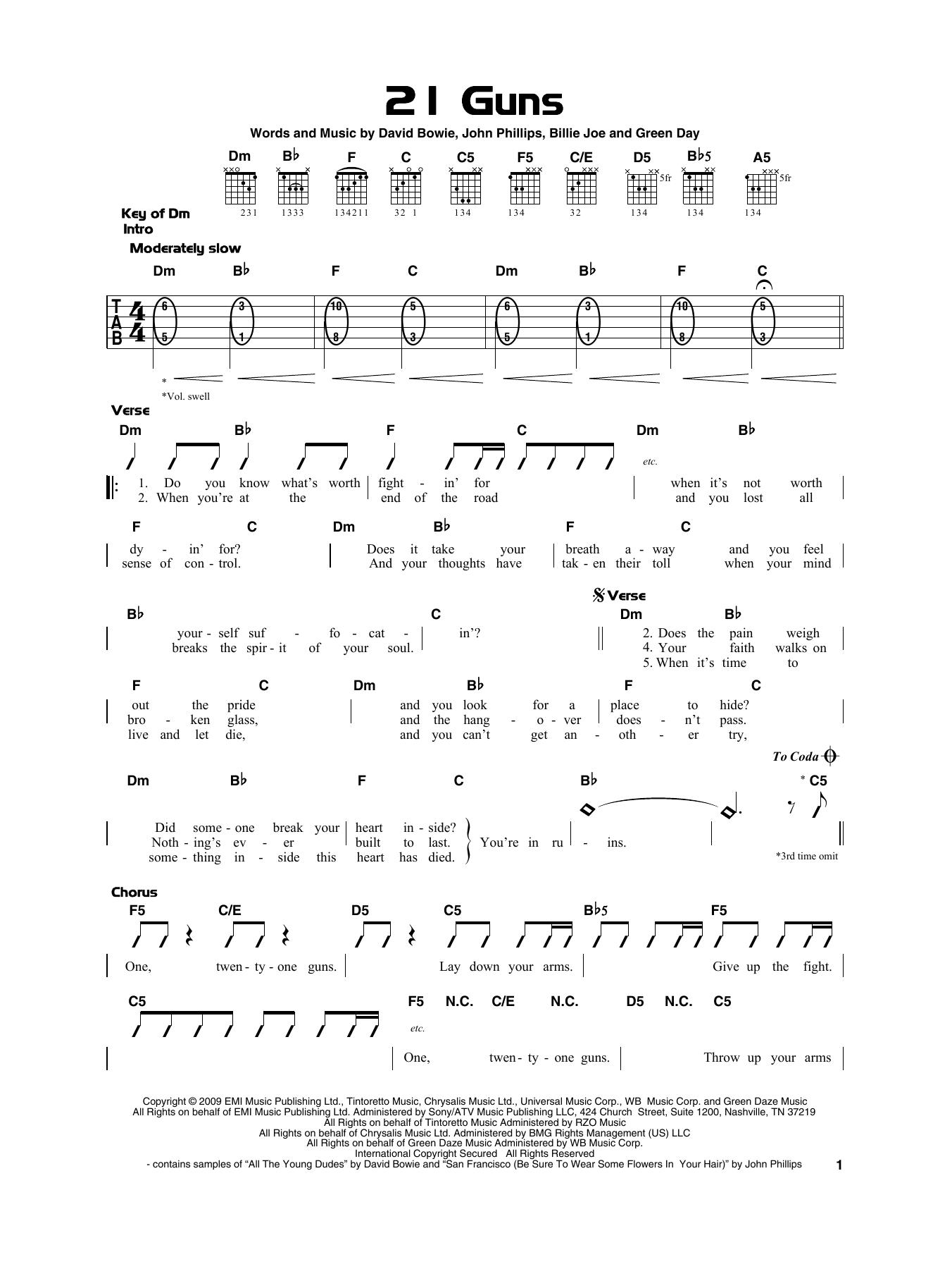 21 Guns Chords Green Day 21 Guns Sheet Music Notes Chords Download Printable Really Easy Guitar Sku 415300