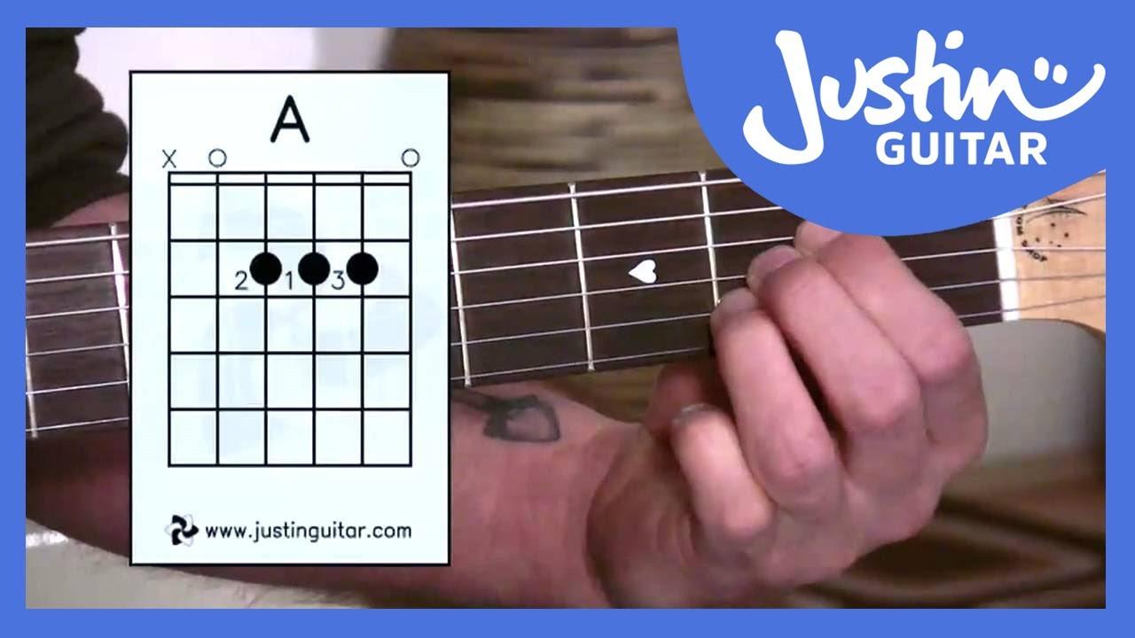 A Chord Guitar The A Chord Justinguitar