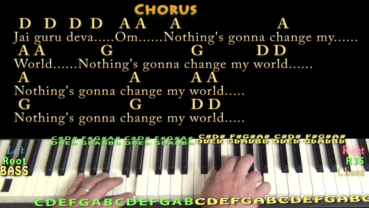 Across The Universe Chords Across The Universe The Beatles Piano Lesson Chord Chart In D With Chordslyrics