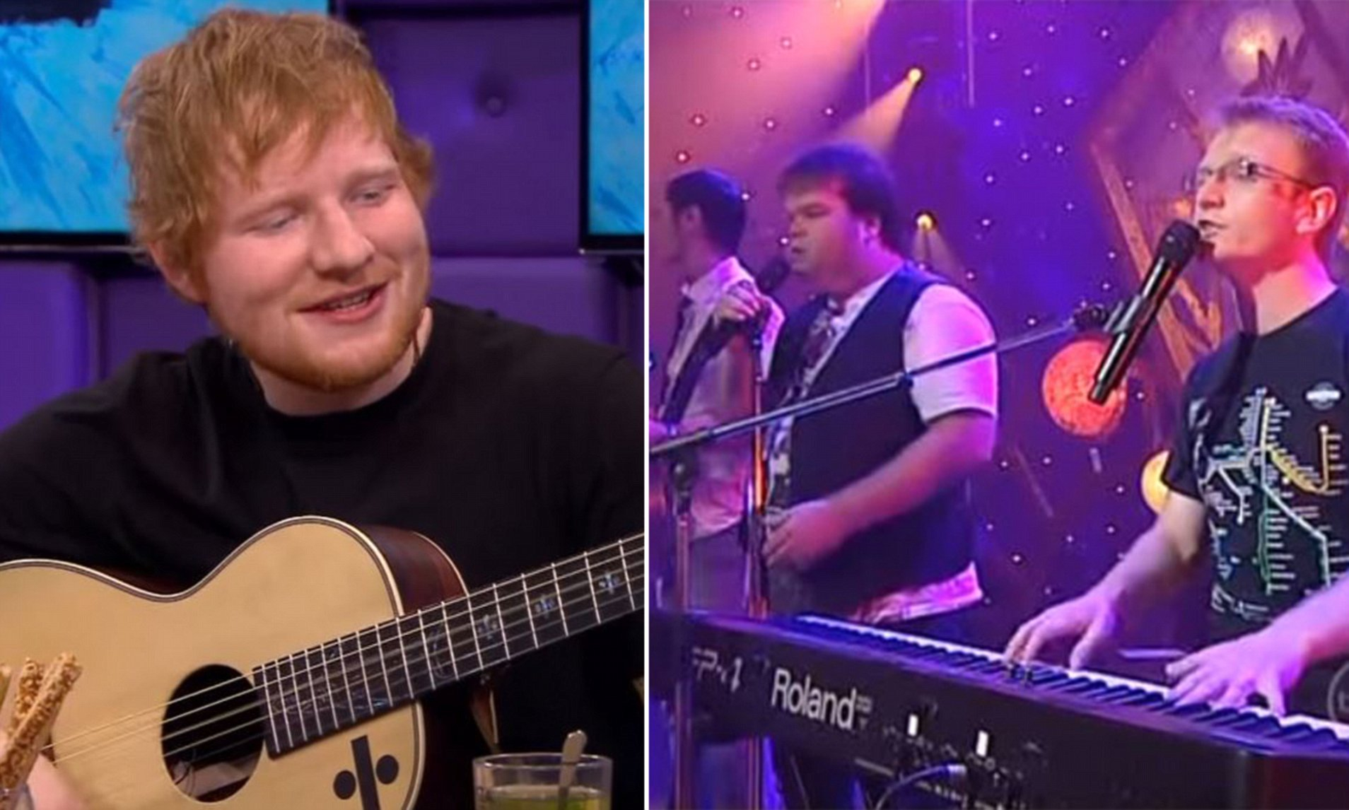 Axis Of Awesome 4 Chords Ed Sheeran Steals Axis Of Awesome Joke On Dutch Tv Daily Mail Online