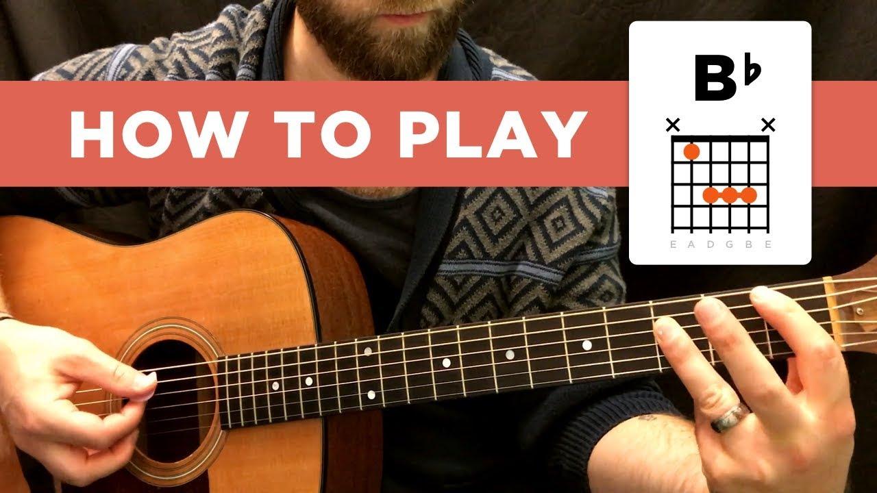 B Flat Chord How To Play The B Flat Chord Bb Easy Way Hard Way