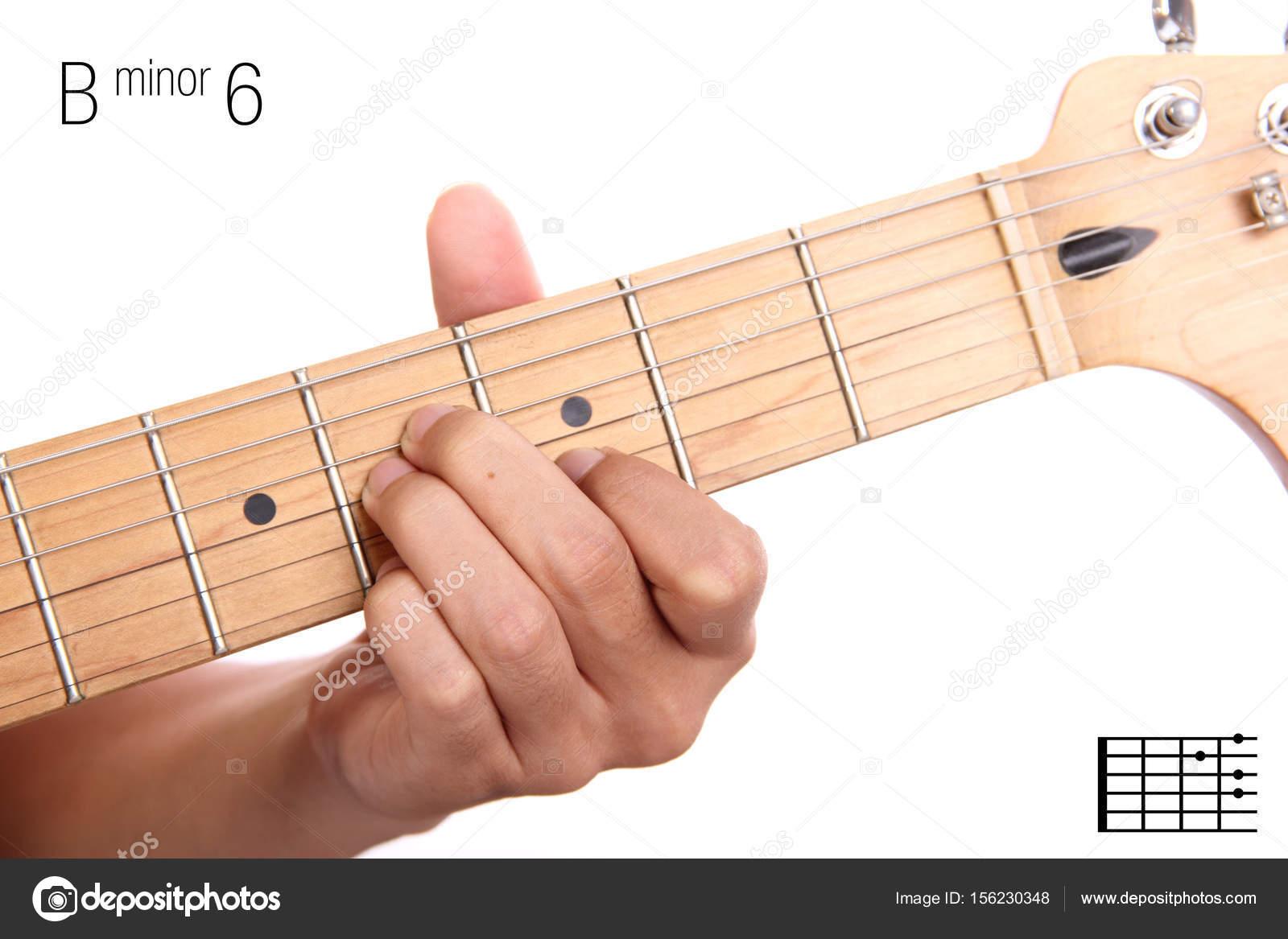 B Minor Guitar Chord Bm6 Guitar Chord Tutorial Stock Photo Pepscostudio 156230348