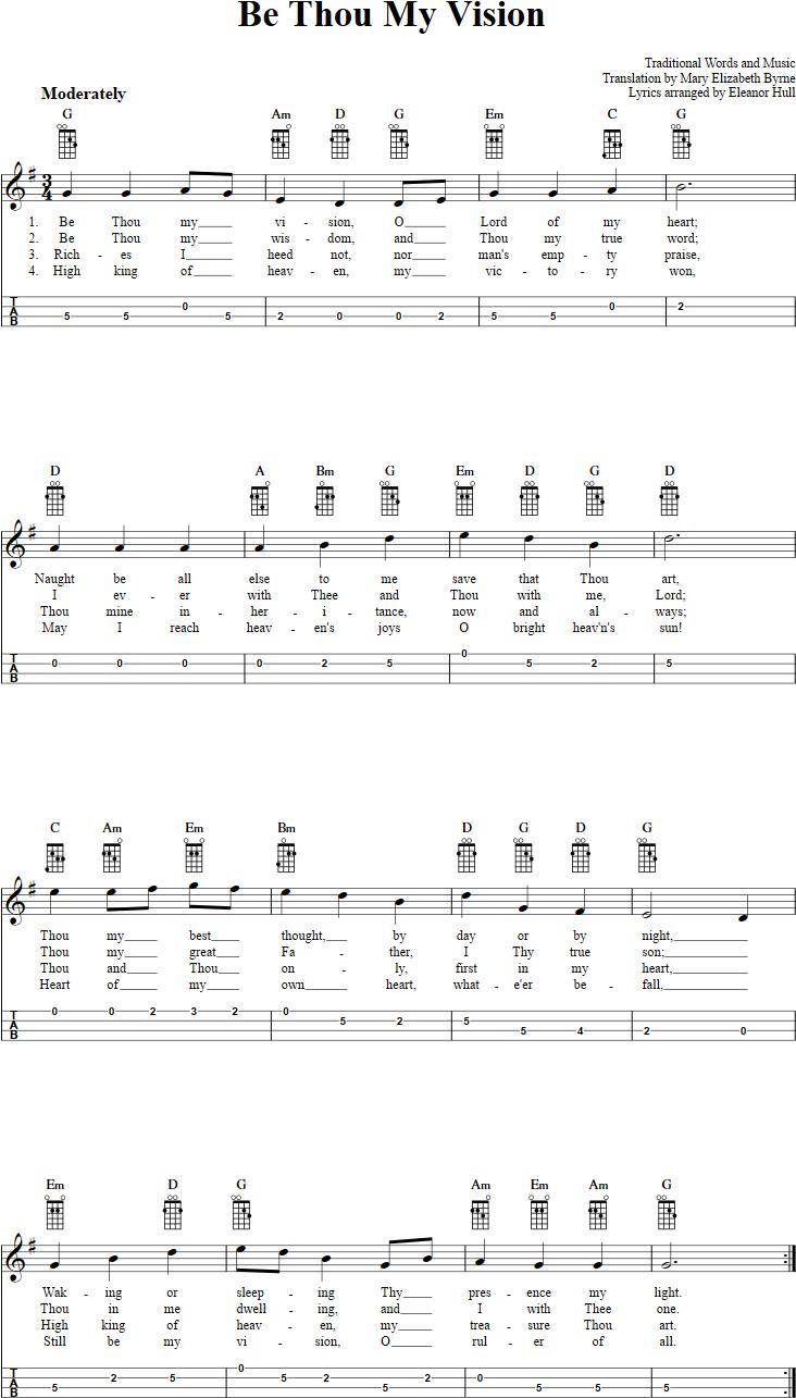 Be Thou My Vision Chords Be Thou My Vision Chords Sheet Music And Tab For Mandolin With Lyrics