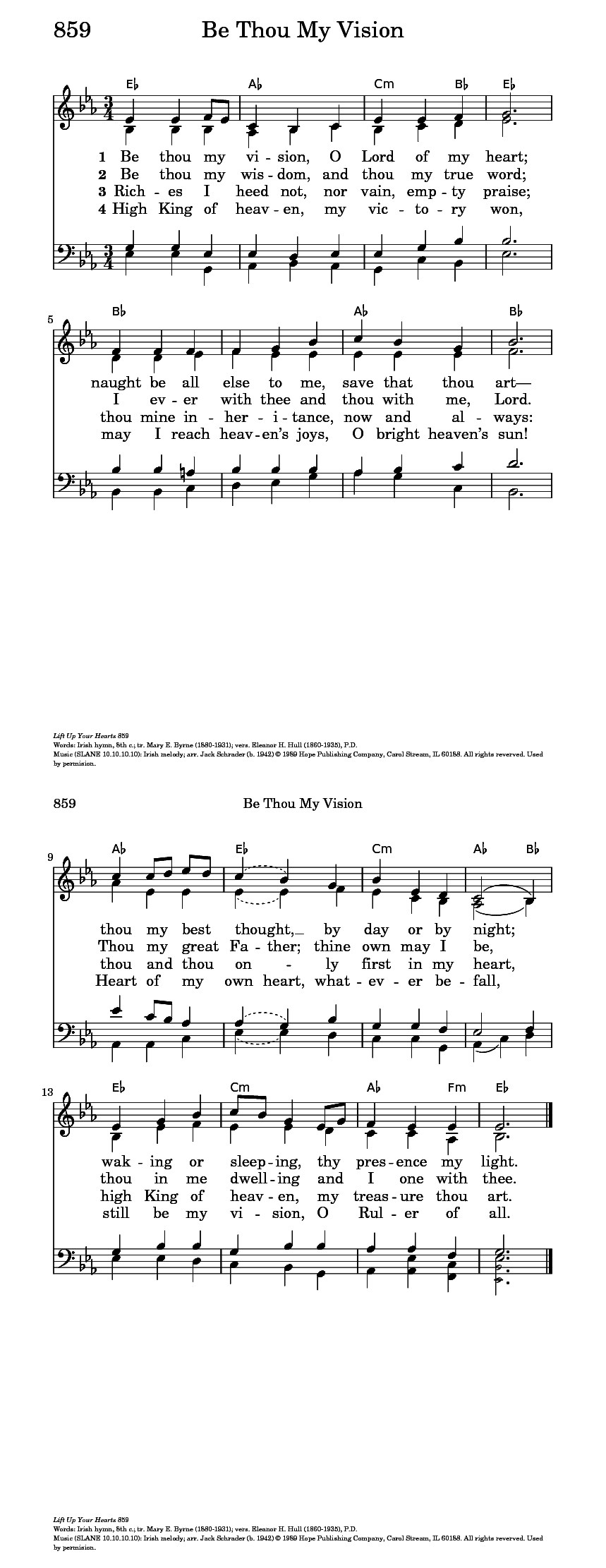 Be Thou My Vision Chords Be Thou My Vision Hymnary