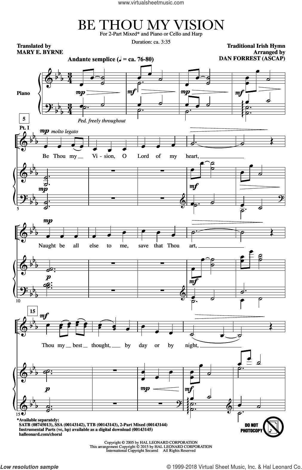 Be Thou My Vision Chords Irish Be Thou My Vision Sheet Music For Choir 2 Part Pdf