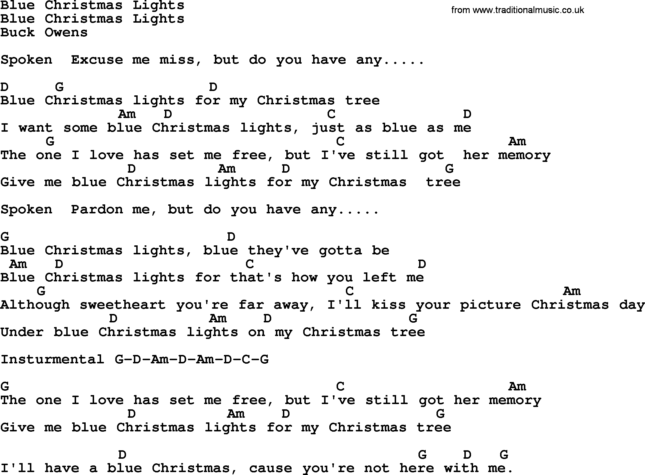 Blue Christmas Chords Blue Christmas Lights Bluegrass Lyrics With Chords