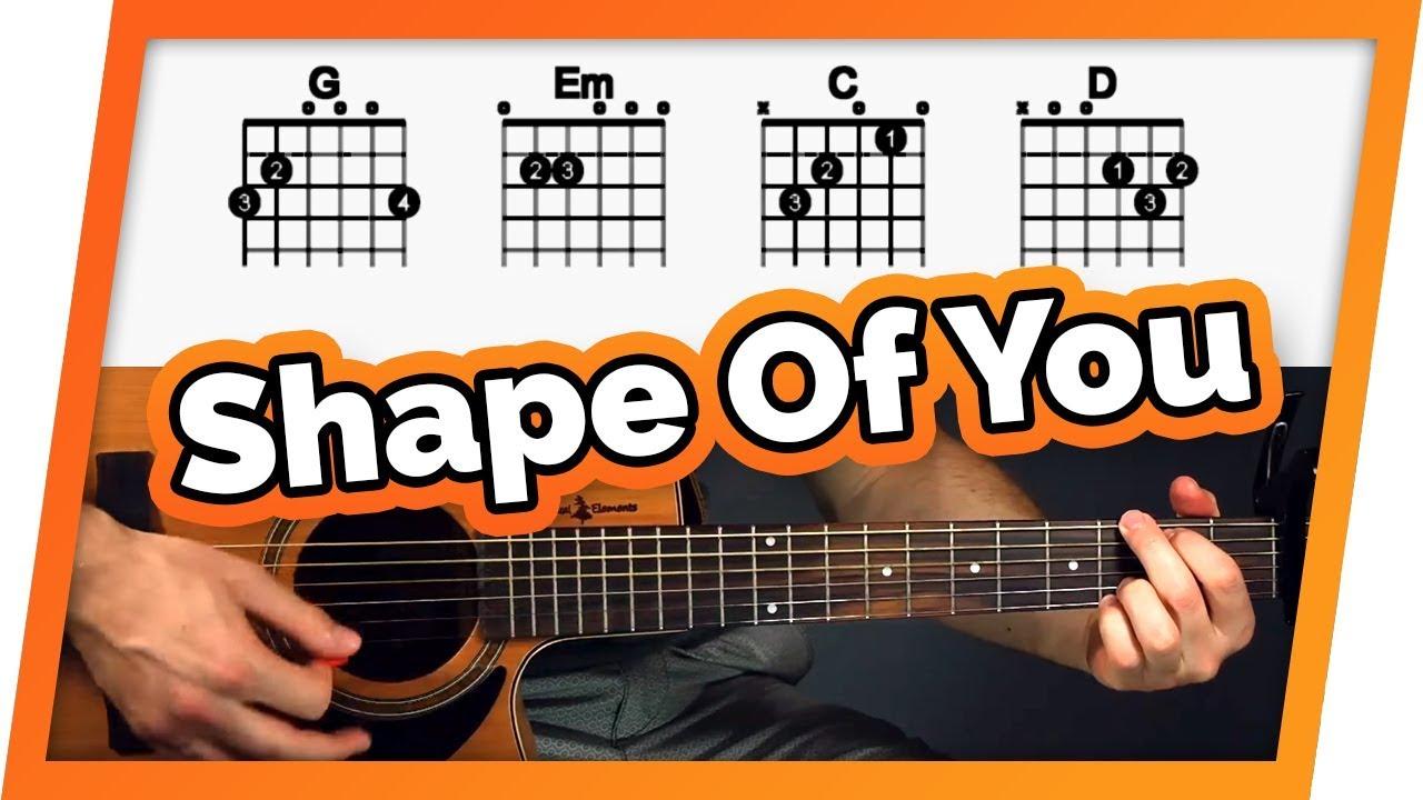 Chords For Guitar Shape Of You Guitar Tutorial Ed Sheeran Easy Chords Guitar Lesson