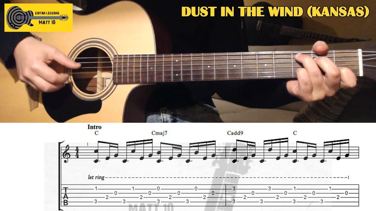 Dust In The Wind Chords Dust In The Wind Kansas Guitar Lesson With Tab