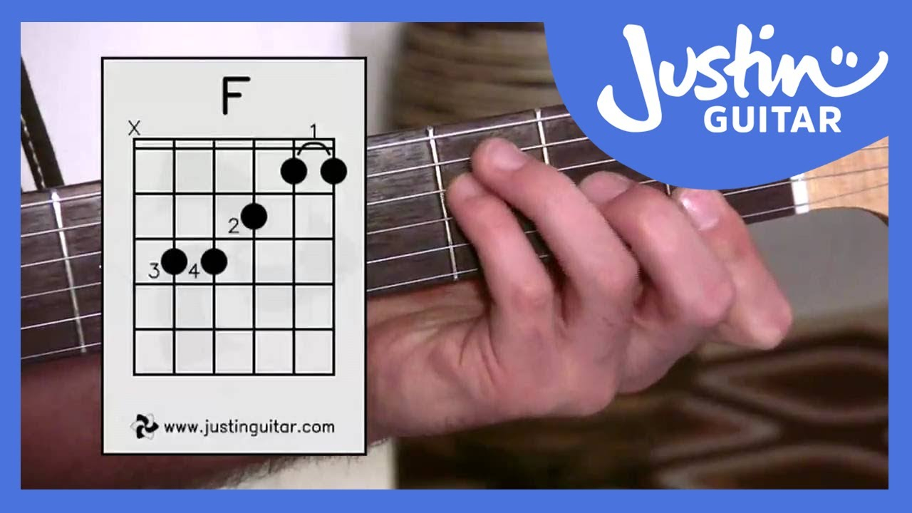 F Guitar Chord 3 Ways Of Playing F Chord Guitar Lesson Guitar For Beginners Stage 6 Bc 161