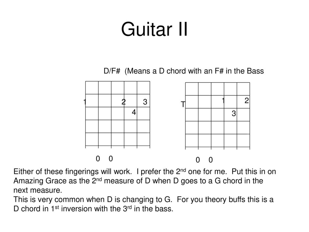 F# Guitar Chord Guitar I Ii Class 4 Will Do D7 And E7 For This Class But More