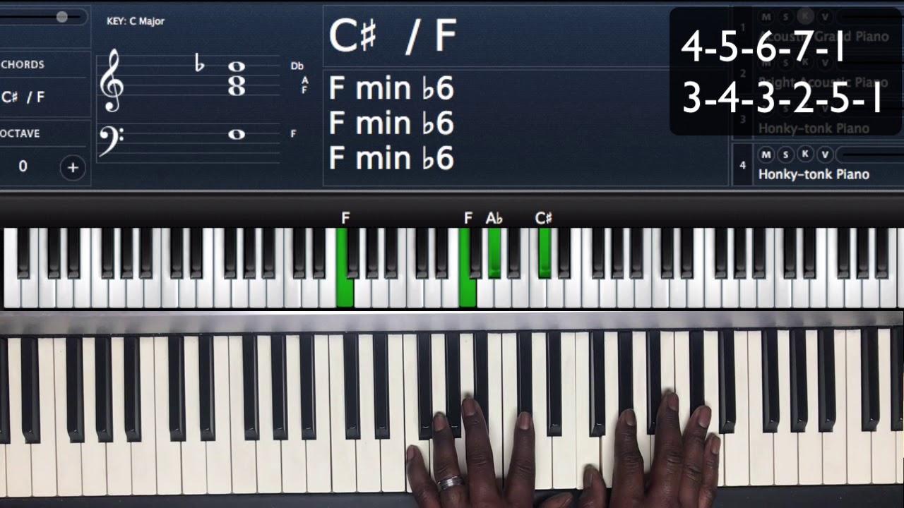 F# Piano Chord F Chord Progression Tutorial
