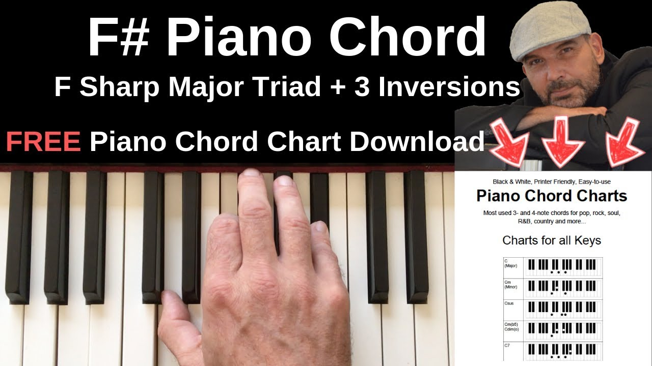 F# Piano Chord F Piano Chord F Sharp Major Inversions