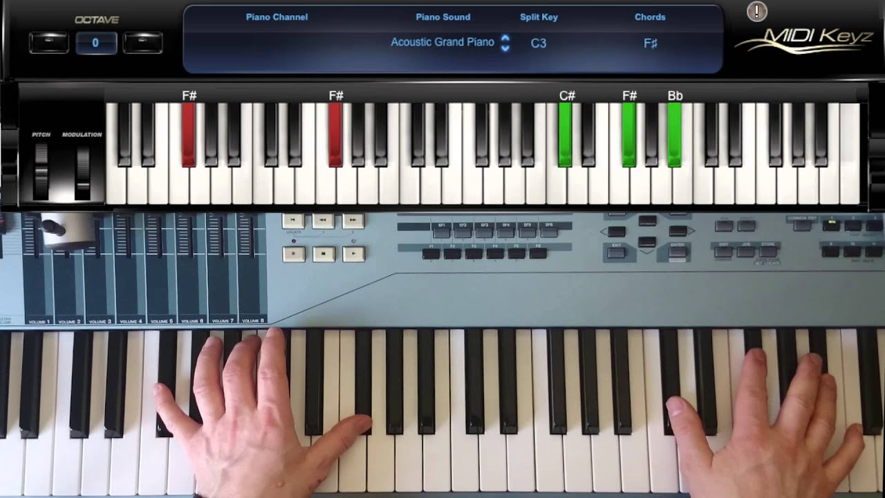 F# Piano Chord How To Play Piano Chord F Gb Major