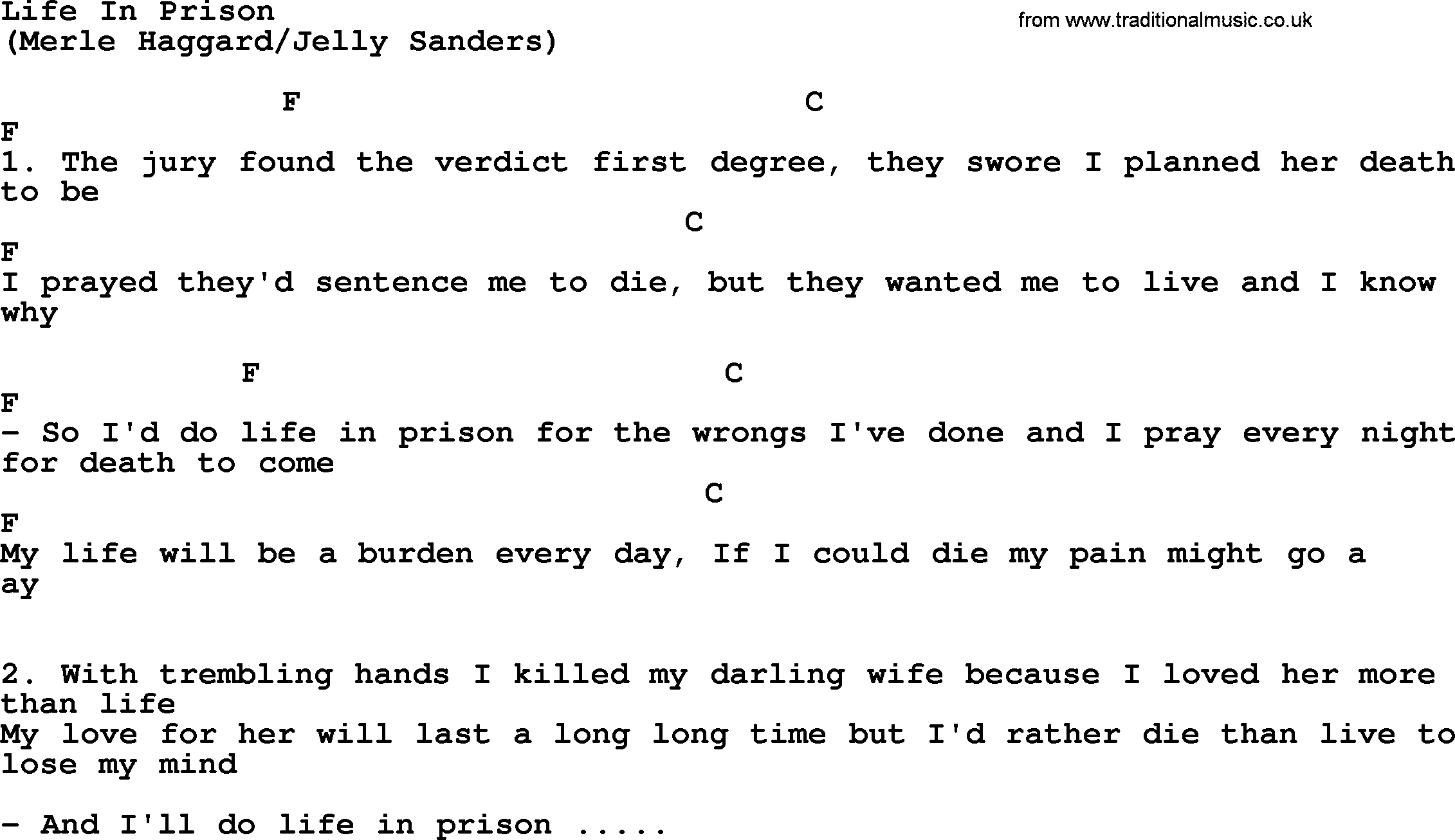 First Day Of My Life Chords Life In Prison The Rds Lyrics And Chords