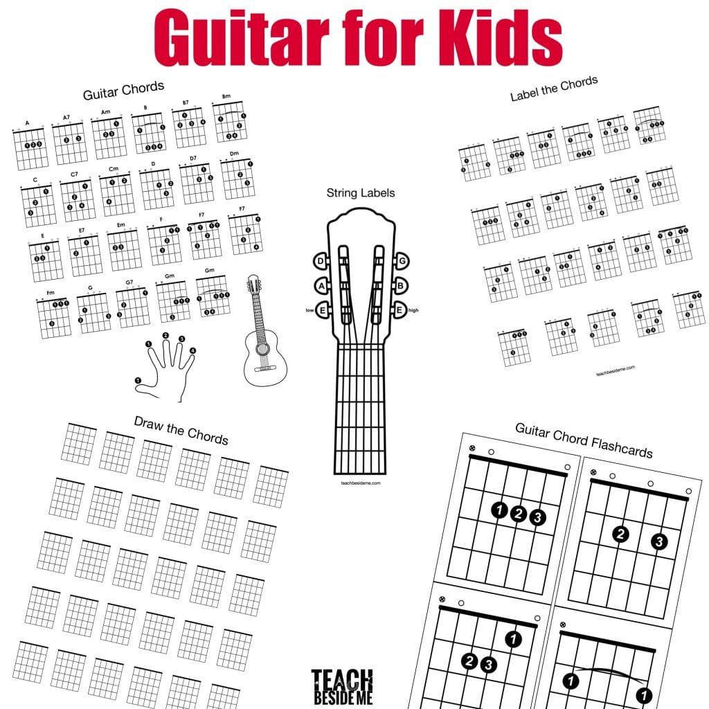 Guitar Chord Chart Guitar Chords For Kids