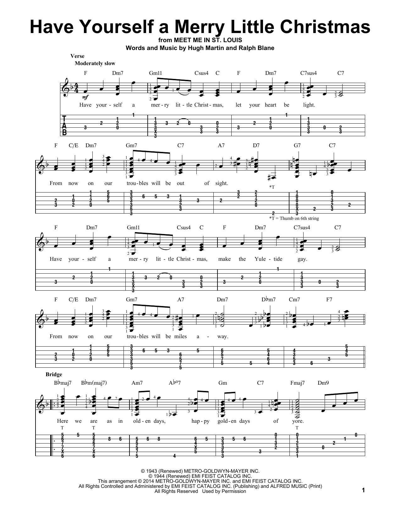 Have Yourself A Merry Little Christmas Chords Have Yourself A Merry Little Christmas Hugh Martin Easy Guitar