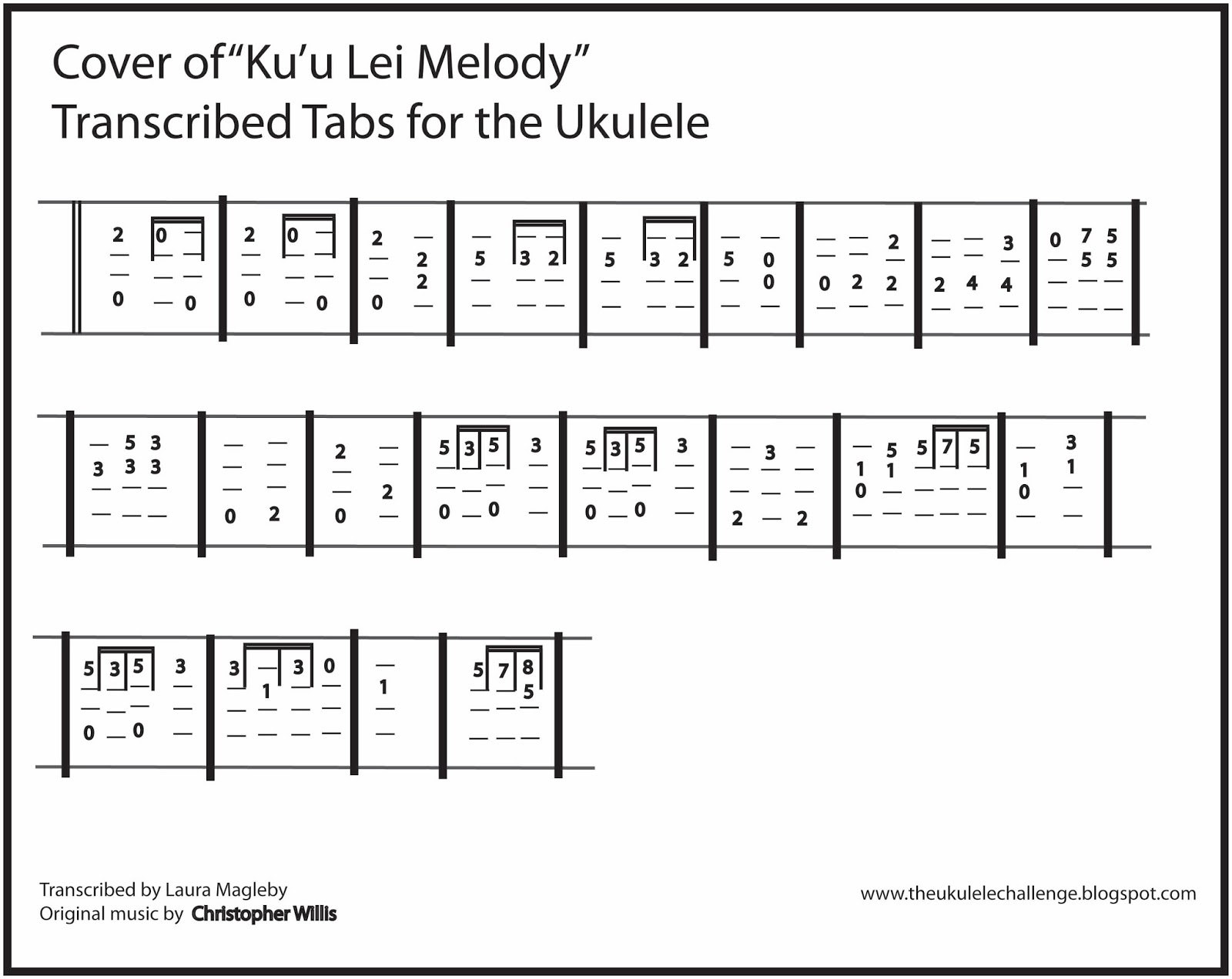 House Of Gold Ukulele Chords The Ukulele Challenge Cover Song Kuu Lei Melody For The Ukulele