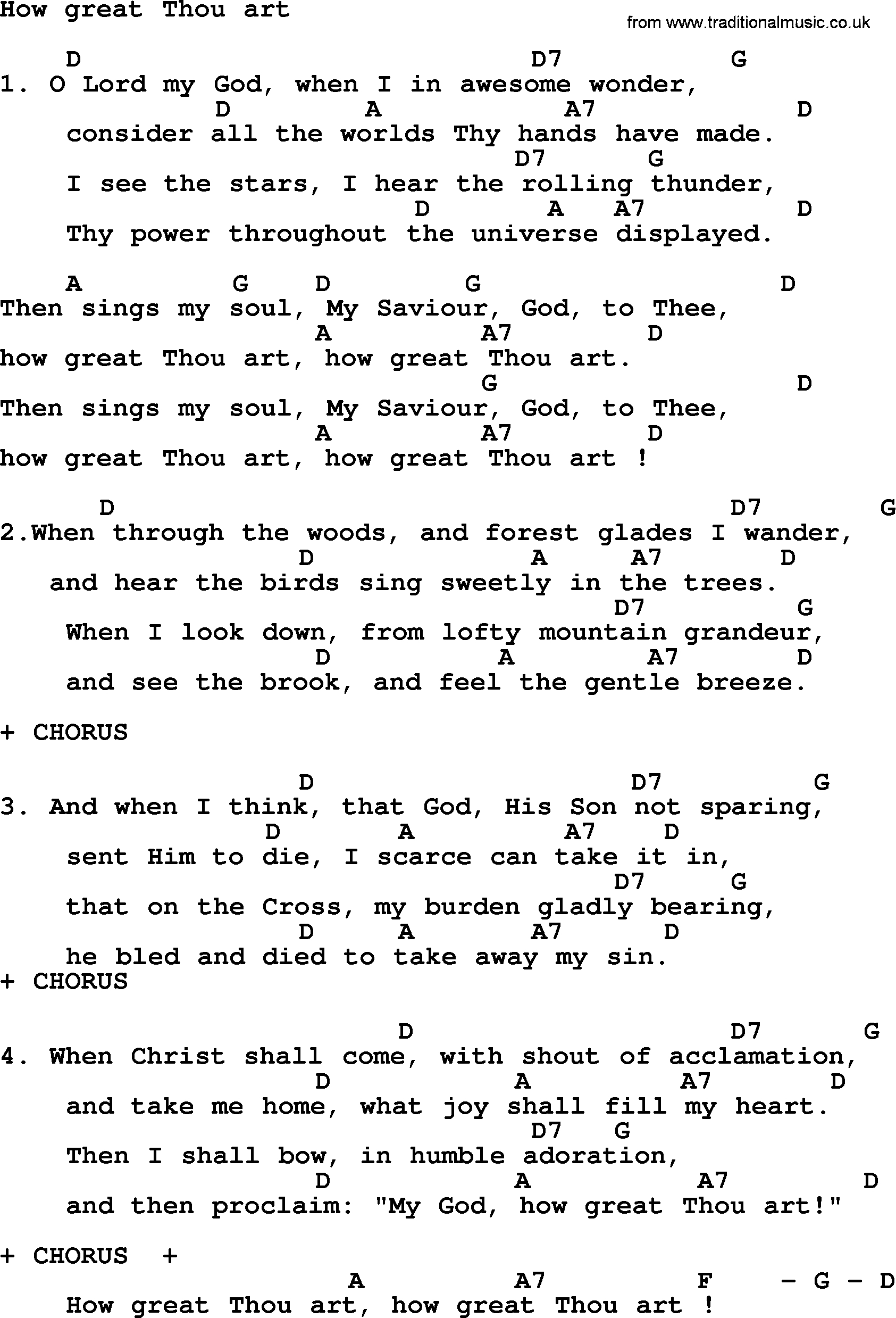 How Great Thou Art Chords Loretta Lynn Song How Great Thou Art Lyrics And Chords