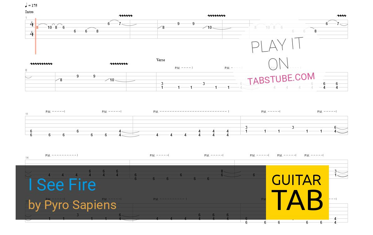 I See Fire Chords Pyro Sapiens I See Fire Guitar Tab And Chords Online View Play