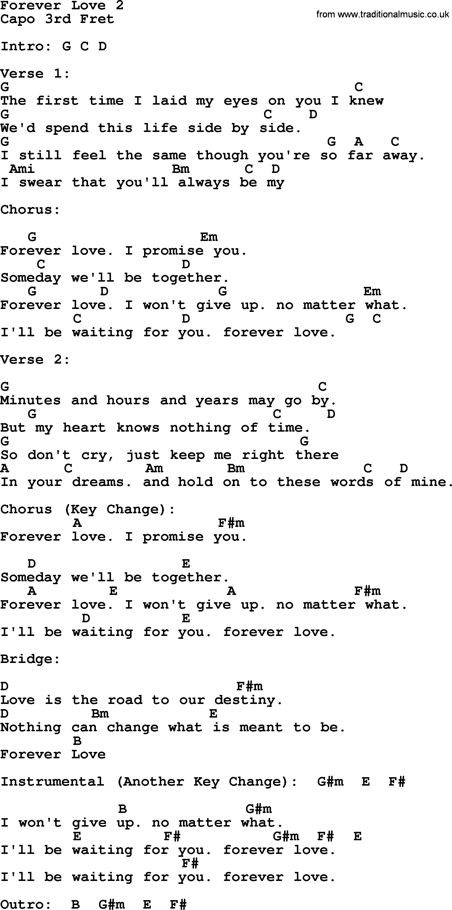 I Won T Give Up Chords Forever Love 2 Reba Mcentire Lyrics And Chords